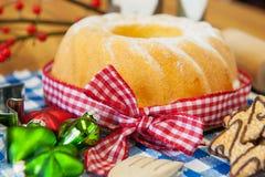 Christmas turban cake Royalty Free Stock Images