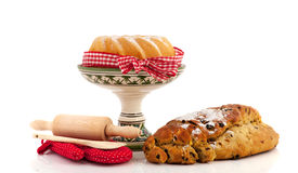 Christmas turban and currant bread royalty free stock images