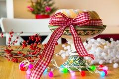 Christmas turban at the table Stock Image