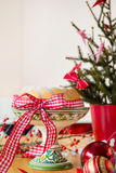 Christmas turban at the table Stock Photography
