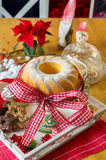 Christmas turban at the table Royalty Free Stock Image