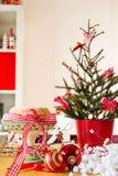 Christmas turban at the table Royalty Free Stock Image