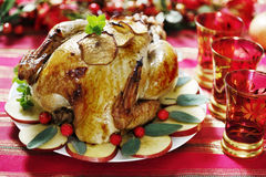 Christmas turkey Stock Photography