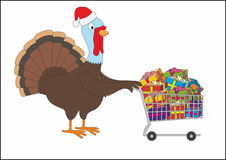 Christmas turkey Royalty Free Stock Image