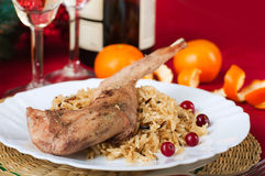 Christmas turkey with berries Stock Images