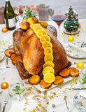 Christmas turkey. The best dish for christmas eve Royalty Free Stock Photography