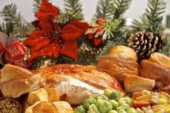 Christmas Turkey Dinner Stock Photos