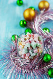 Christmas turkish delight Royalty Free Stock Images