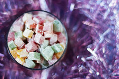Christmas turkish delight Stock Images