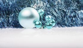 Christmas turquoise and blue decoration Stock Images