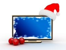 Christmas tv Stock Image