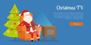 Free Christmas TV Calm Rest Concept Vector Illustration Stock Photo - 106446100
