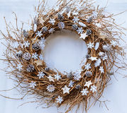 Christmas twig wreath Royalty Free Stock Image
