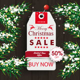 Christmas Twigs Wood Price Sticker Royalty Free Stock Images