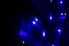 Christmas Twinkly Lights and Stars Royalty Free Stock Photo