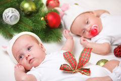 Christmas twins Stock Photography