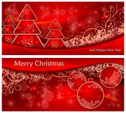 Christmas two background Stock Photos