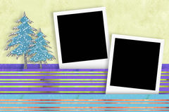 Christmas two photo frames card Royalty Free Stock Image