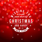 Christmas type composition on bokeh background Royalty Free Stock Photos