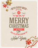 Christmas type design Stock Photography