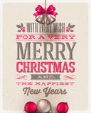 Christmas type design Royalty Free Stock Photos