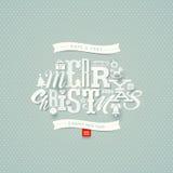 Christmas type design Royalty Free Stock Photos