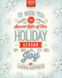 Christmas type design Stock Photo