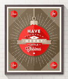 Christmas type design poster Royalty Free Stock Photos