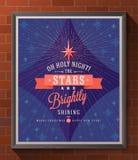 Christmas type design poster Stock Photos