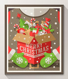 Christmas type design poster Royalty Free Stock Images