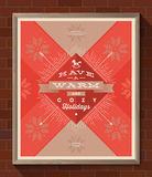 Christmas type design poster Royalty Free Stock Image