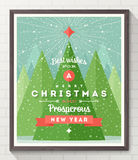Christmas type design poster Stock Photos