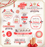 Christmas type design Royalty Free Stock Photography
