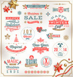Christmas type design Royalty Free Stock Images