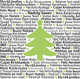 Christmas typographic background Stock Photography
