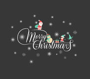 Christmas Typographic Background. For design Royalty Free Stock Photography