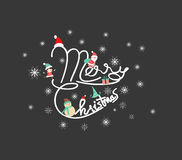 Christmas Typographic Background. For design Royalty Free Stock Photo