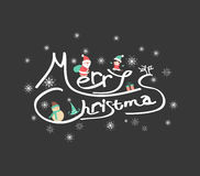 Christmas Typographic Background Stock Photos