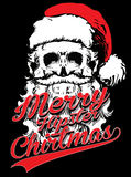Christmas Typographic Background / Merry Christmas / Skull Royalty Free Stock Image