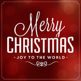 Christmas Typographic Background. Merry Christmas - Joy To The World Royalty Free Stock Photos