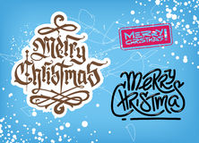 Christmas typographic background set. Royalty Free Stock Photos