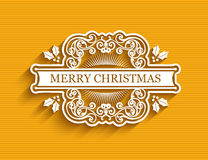 Christmas typographic label Royalty Free Stock Images