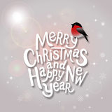 Christmas typographic label for Xmas and New Year holidays desig Royalty Free Stock Image