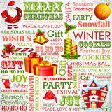Christmas Typography Background Stock Photos