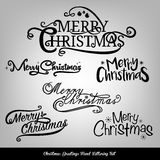 Christmas typography collection for card design Royalty Free Stock Images