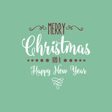 Christmas typography design Royalty Free Stock Images