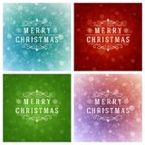 Christmas Typography Greeting Cards Design Set. Stock Photography