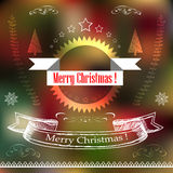 Christmas typography, handwriting Royalty Free Stock Photos