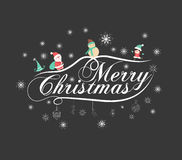 Christmas typography, handwriting. For design Royalty Free Stock Image