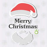 Christmas typography, handwriting Royalty Free Stock Photo